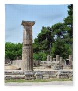 Ancient Ruins Wide Columns Fleece Blanket