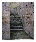 Ancient Stairs Rome Italy Fleece Blanket
