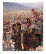 Ancient Warriors Fleece Blanket