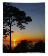 Anclote Gulf Sunset Fleece Blanket