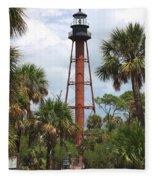 Anclote Key Lighthouse Fleece Blanket