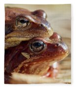 And Then I Found You. European Common Brown Frog Fleece Blanket