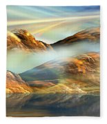 And The Light Shines On And On And On... Fleece Blanket