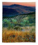 Andalucian Landscape  Fleece Blanket