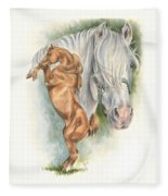 Andalusian Fleece Blanket by Barbara Keith