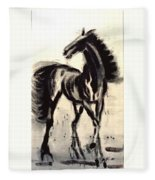 Andalusian Colt Fleece Blanket