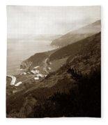 Anderson Creek Labor Camp Big Sur April 3 1931 Fleece Blanket