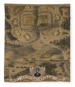 Andersonville Prison Fleece Blanket