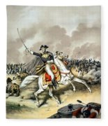 Andrew Jackson At The Battle Of New Orleans Fleece Blanket