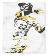 Andrew Mccutchen Pittsburgh Pirates Pixel Art 1 Fleece Blanket