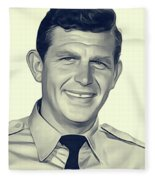 Andy Griffith, Vintage Actor Fleece Blanket