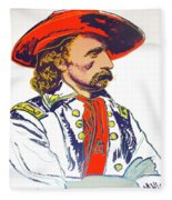 Andy Warhol, General Custer, Cowboys And Indians Series Fleece Blanket