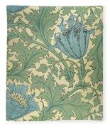 Anemone Design Fleece Blanket
