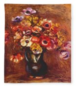 Anemones 1898 Fleece Blanket