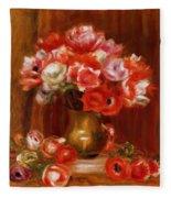 Anemones 1909 Fleece Blanket