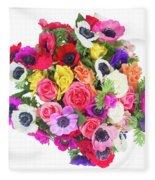 Bouquet Of Anemones Fleece Blanket