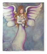 Angel And Baby Fleece Blanket