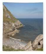 Angel Bay. Little Orme.  Fleece Blanket