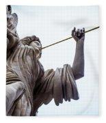 Angel Blowing A Gilt Trumpet Fleece Blanket