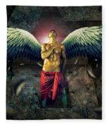 Angel Body Art Fleece Blanket