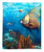 Angel Fish Fleece Blanket