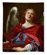 Angel Holding The Vessel And Towel For Washing The Hands Of Pontius Pilate Fleece Blanket