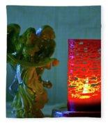 Angel In Candle Light Fleece Blanket