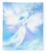 Angel In Hotty Totty In Thick Paint Fleece Blanket