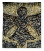 Angel In Stone Fleece Blanket