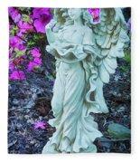 Angel In The Garden Fleece Blanket