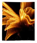 Angel In The Sky Fireworks Fleece Blanket