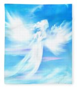 Angel In Thick Paint Fleece Blanket