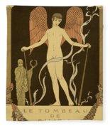 Angel Le Tombeau De Bilitis Fleece Blanket