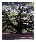 Angel Oak II Fleece Blanket