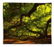 Angel Oak Limbs 2 Fleece Blanket