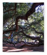 Angel Oak Side View Fleece Blanket