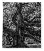 Angel Oak Tree Americana Fleece Blanket