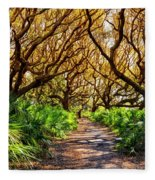 Angel Oaks In Sunshine Fleece Blanket