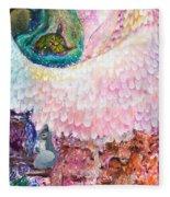 Angel Of Protection  Fleece Blanket