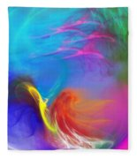 Angel On Lilly Pond Fleece Blanket