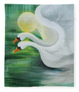 Angel Swans Fleece Blanket