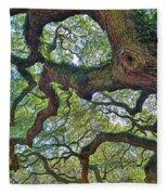 Angel Tree Abstract Fleece Blanket