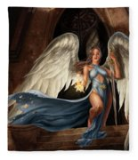 Angel Warrior Fleece Blanket