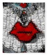 Angel Wings Brings Love And Peace Fleece Blanket