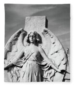 Angel With Outspread Wings And Other Angels In The Background Fleece Blanket