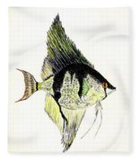 Angelfish Fleece Blanket