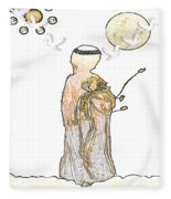 Angelita Blanco Fleece Blanket