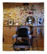Angel's Barber Shop On Route 66 Fleece Blanket