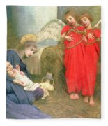 Angels Entertaining The Holy Child Fleece Blanket by Marianne Stokes