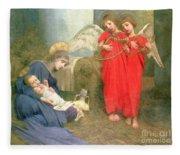 Angels Entertaining The Holy Child Fleece Blanket